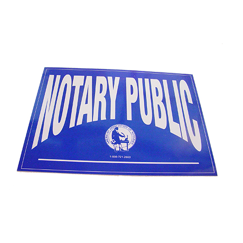 Arizona Notary Public Decal