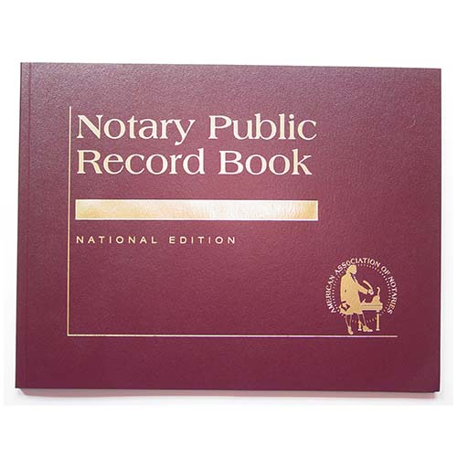 Arizona Contemporary Notary Public Record Book - (with thumbprint space)